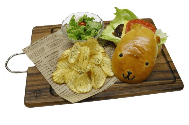 人気メニュー「カピバーガー」 1,200円(税込)