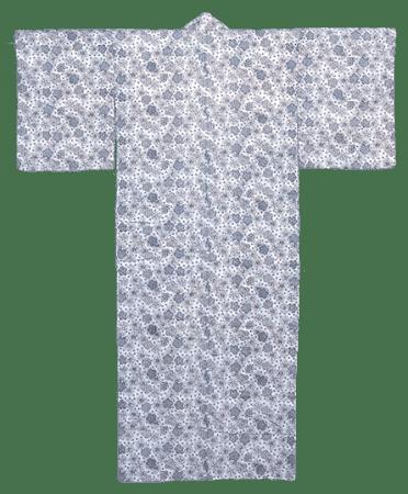 江戸時代以来の伝統技法を伝える浴衣 長板中形浴衣 花丸文に小桜 清水幸太郎/型付  1957年(昭和32)頃 (展示期間:8月4日~8月23日)