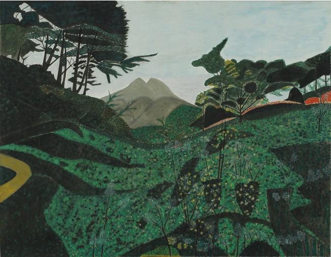 東勝吉《川西から見た由布山》1990年代? 由布院アートストック蔵