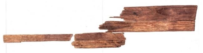 「女子群像」板絵 青谷横木遺跡 出土 (鳥取県鳥取市:飛鳥時代 7世紀後葉~8世紀初頭)