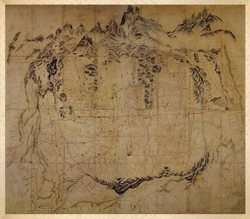 漢陽の地図 都城大地図 18世紀後半 ソウル歴史博物館蔵