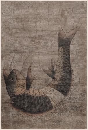 科挙の合格祈願の贈り物として 描かれた鯉の絵 躍鯉図 18世紀 ソウル歴史博物館蔵