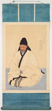 ユマンジュの父親ユハンジュンの肖像画 兪漢雋(ユハンジュン)の肖像画(複製)  1800年 ソウル大学校 奎章閣韓国学研究院蔵