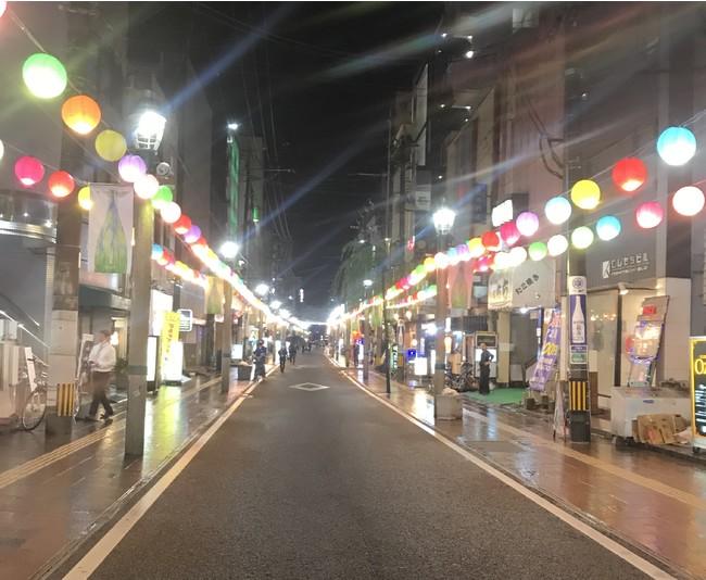 本来「ニシタチ夜市」が開催されるはずだった2020年7月の様子