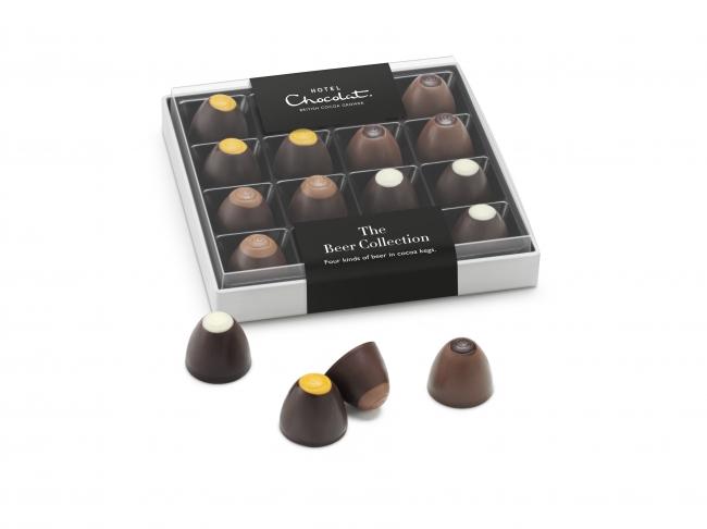 アルコールの香り豊かな、ユニークな4種のチョコレート