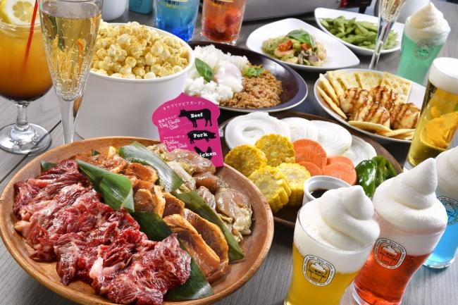 焼肉×ビアガーデンセット 5,000円(税込)