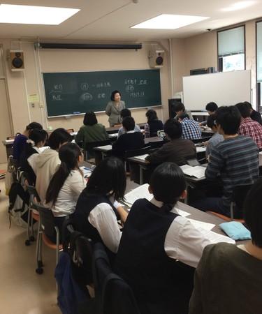 東京大学にて。最終講義の日。