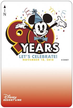 ミッキーマウスのスクリーンデビュー90周年 限定デザインのフリーきっぷ