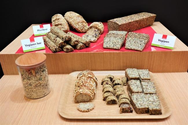 Backaldrin社製品のミックス粉を使用したパン(展示会で試食提供)