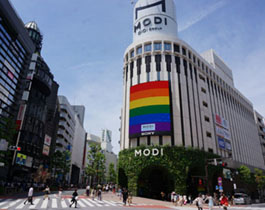 イベント期間中の渋谷モディ