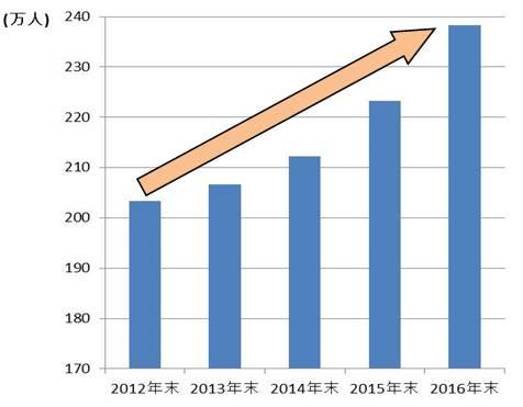 在留外国人数の推移(※3)