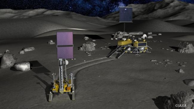 月極域探査の想像図(JAXA)