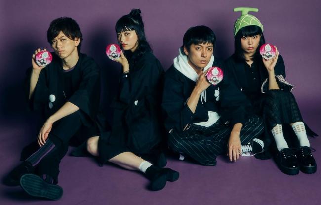 アイスアイドル「やわもちず」(左より)野崎弁当、由布菜月、残念なイケメン(もりすけ)、山口めろんちゃん(公式キャラクターやわもちおもメンバーです)