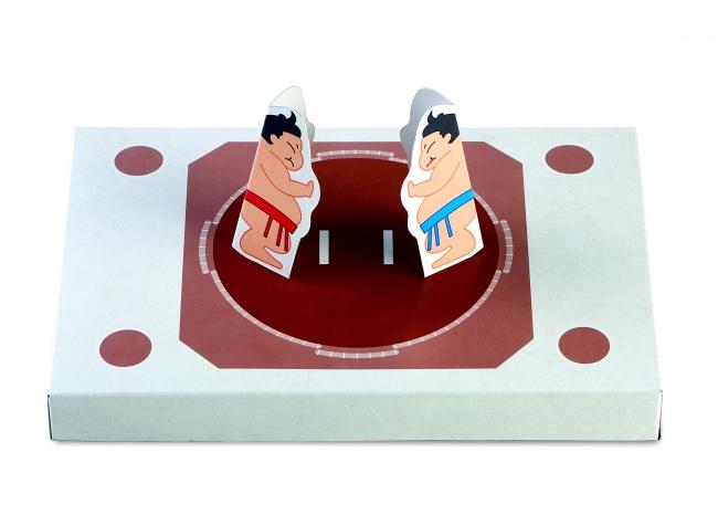 内箱を組み立てて紙相撲で遊ぼう!