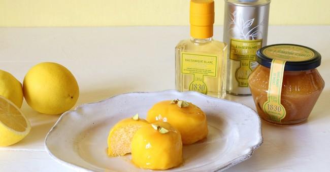 レモン調味料でグルテンフリーのヘルシーレモンケーキを