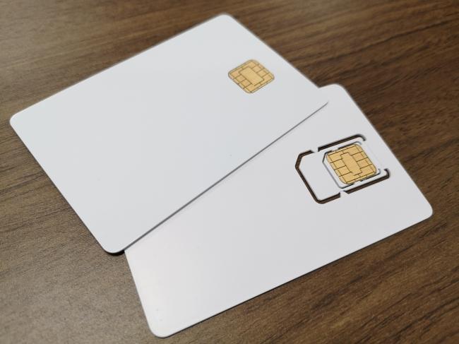 ICカード型(上・接触/非接触両対応)・SIM型(下)