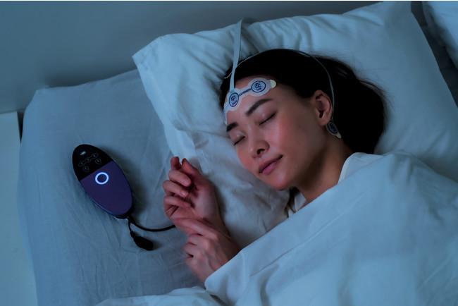 在宅での睡眠脳波計測のイメージ