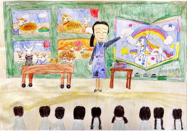 「通っている小学校で図工の先生になる!」はるさん作