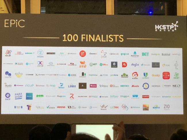 HKSTP EPiC2018 ファイナリスト100社