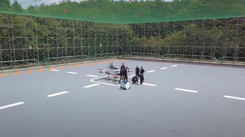 三栄工業株式会社建設SkyDrive屋内飛行試験場(通称:櫓)