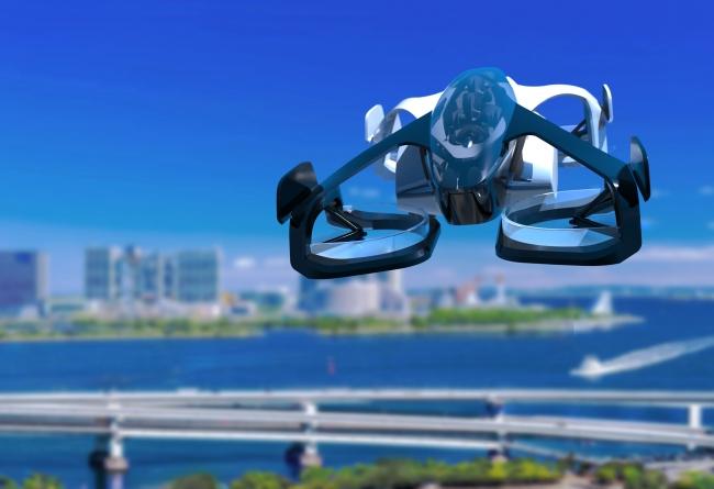 海浜を飛ぶSkyDrive 2025年頃IMAGE
