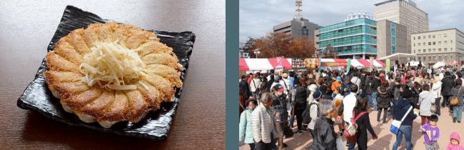 左:浜松餃子/右:2017年の様子