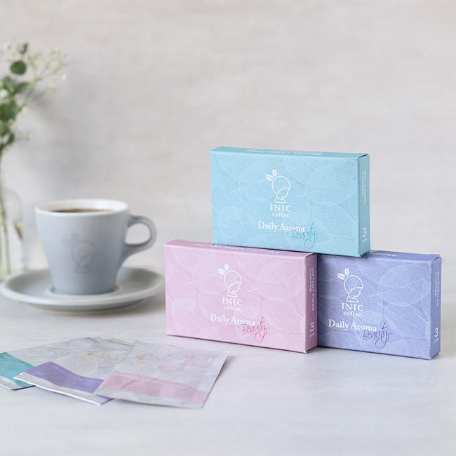 新生「デイリーアロマビューティー」から発売の3種類のコーヒー