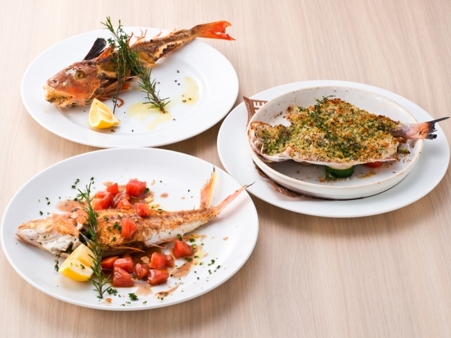 メイン一例 丸々1本鮮魚料理