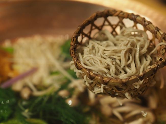 ねぎ出汁しゃぶの〆はお蕎麦