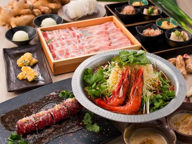食べる「温活」!お料理9品のコラボコース