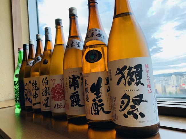 銘柄日本酒全10種が飲み放題