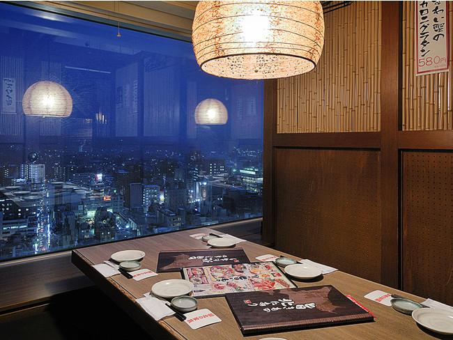 21階からの夜景は最高のロケーション