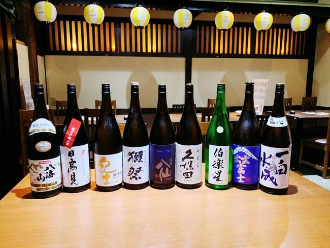 日本酒飲み放題 2,020円(税別)