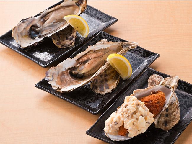 厚岸産 生牡蠣(生・焼き・フライ) 1ケ 390円~(税別)