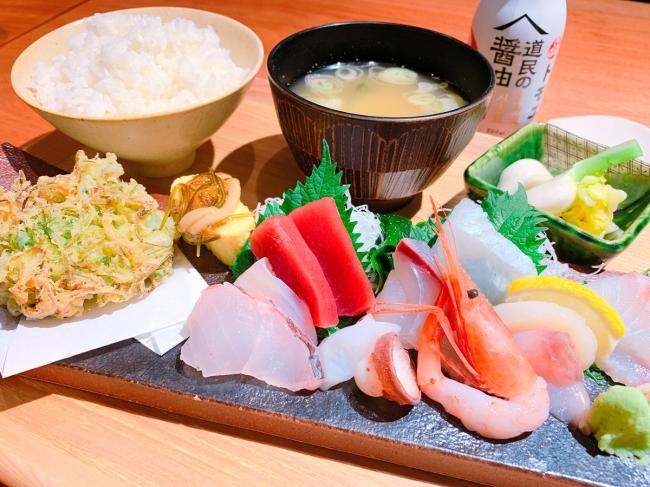 限定50食「和食屋の刺身定食」 1,200円