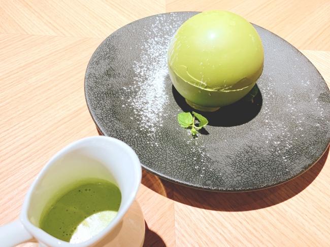 季節限定 「伊勢茶の抹茶チョコドーム」