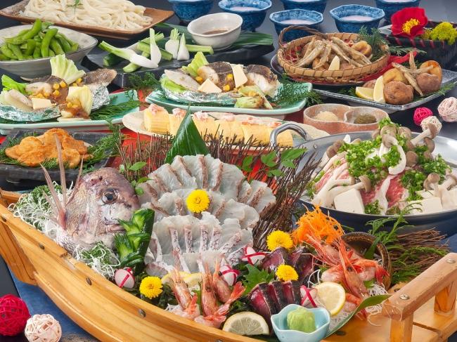 人気の舟盛り付き宴会コース
