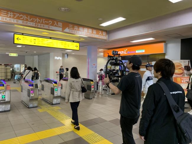 西武池袋線入間市駅PV撮影風景