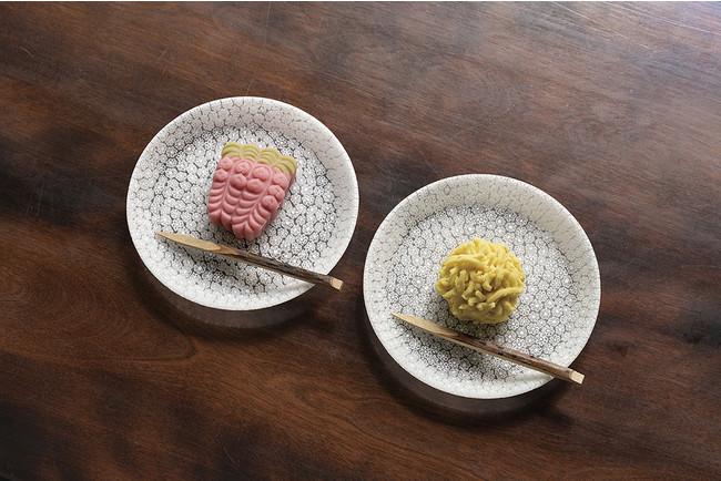 丸皿「ブーケ」14cm 各¥49,500