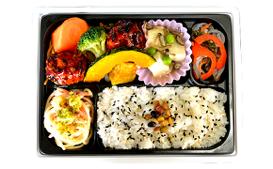 肉団子と野菜の黒酢あんかけ弁当 (シノブフーズ株式会社)