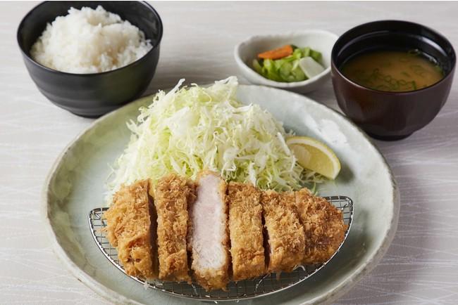 【定食】リブロースかつ定食220g<ご飯・味噌汁・香の物付> 1500円