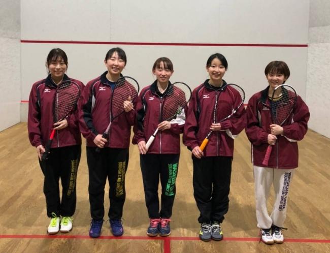 優勝した早稲田大学(向かって左から森、打田、櫻井、鎌野、炭田)