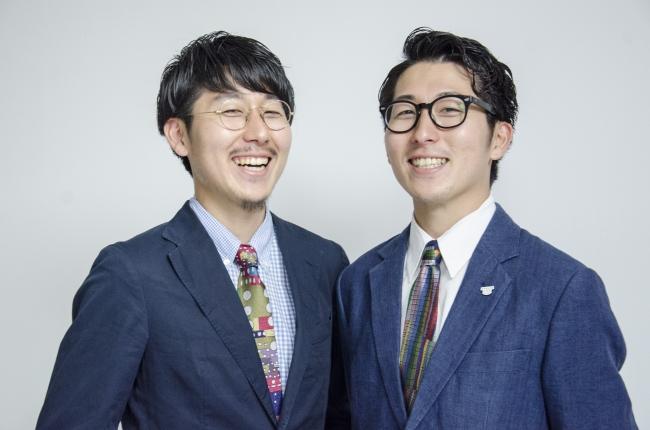 (左)代表取締役社長 松田崇弥 (右)松田文登 代表取締役副社長
