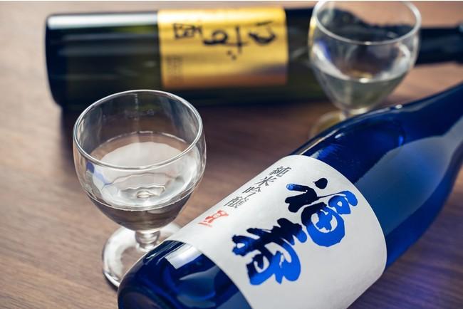 「福寿 純米吟醸」と「ゆず酒」