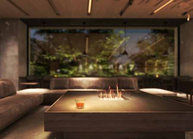 ラウンジは大通公園に面した特等席。北海道産のお酒やカジュアルフードも提供される。