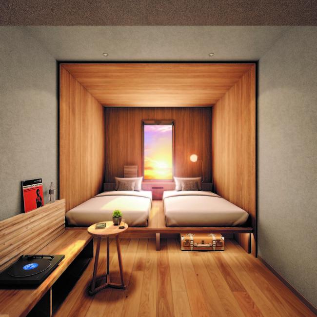 9~11階は木造フロア。内装にも北海道産木材を使用。
