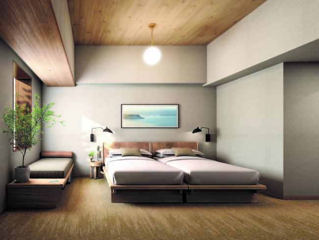 3~8階のRC造フロアにも北海道産木材をつかい、木の質感ならではのやさしさを表現。