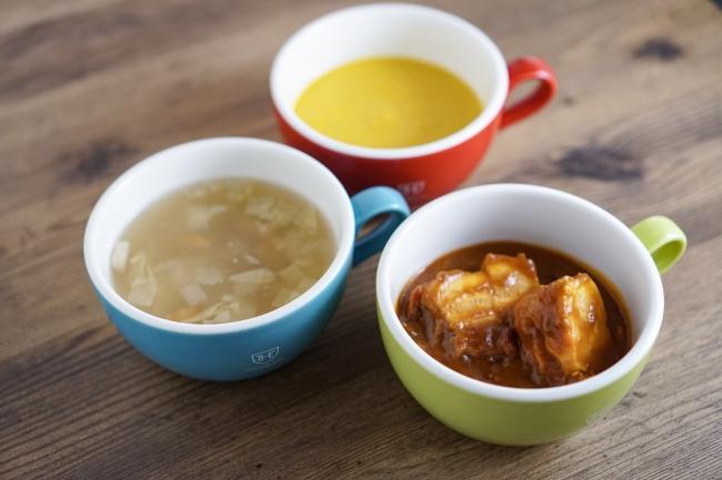 カボチャの濃厚スープ 他2品