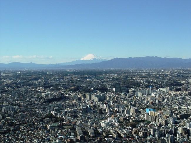 天気が良い日は個室から富士山が望めます。