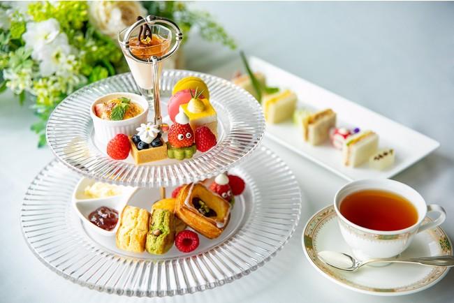 """""""地産地消""""をテーマとしたアフタヌーンティー。「こゆるぎ紅茶」のウェルカムティーを楽しんで。"""